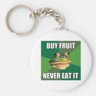Fruta asquerosa de la compra de la rana del solter llavero redondo tipo pin