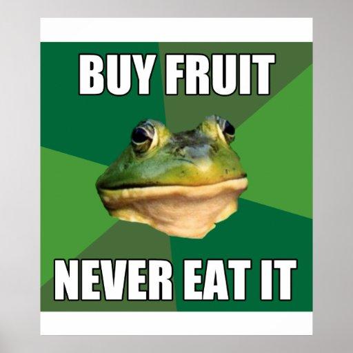 Fruta asquerosa de la compra de la rana del solter posters