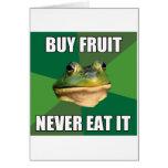 Fruta asquerosa de la compra de la rana del solter tarjetas