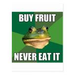 Fruta asquerosa de la compra de la rana del solter tarjetas postales