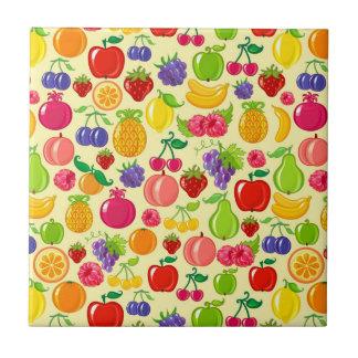 Fruta Azulejo Cuadrado Pequeño