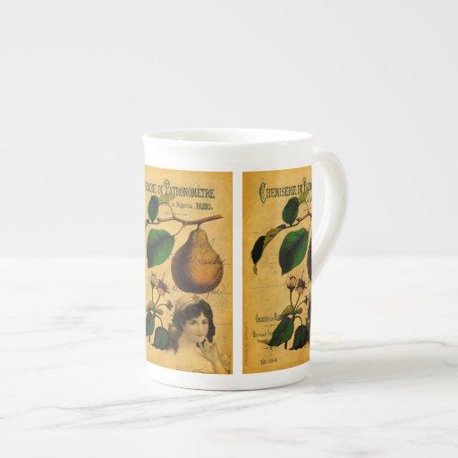 Fruta botánica taza de porcelana