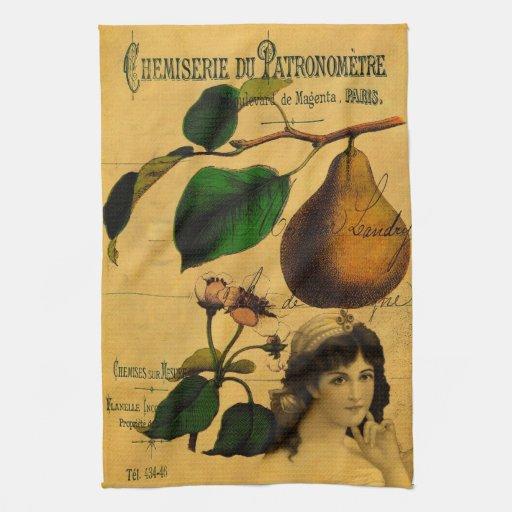 Fruta botánica toallas de cocina
