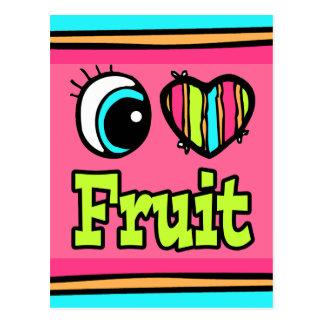 Fruta brillante del amor del corazón I del ojo Postal