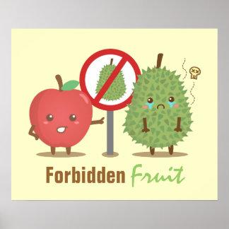 Fruta chistosa prohibida Apple y Durian