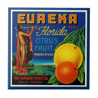 Fruta cítrica de Eureka la Florida Azulejo Cuadrado Pequeño
