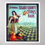 Fruta cítrica del condado de Tulare justa Impresiones