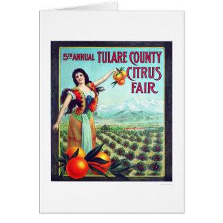 Fruta cítrica del condado de Tulare justa Tarjetón