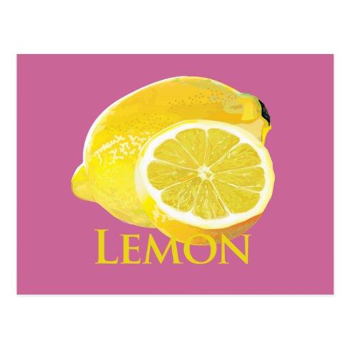 Fruta cítrica del limón tarjeta postal