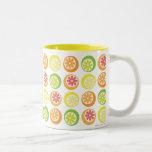 Fruta cítrica enérgica tazas