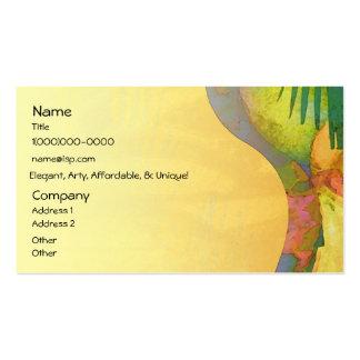 Fruta cítrica tropical de los placeres tarjetas de visita
