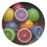 Fruta colorida platos para fiestas