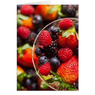 Fruta colorida tarjeta pequeña