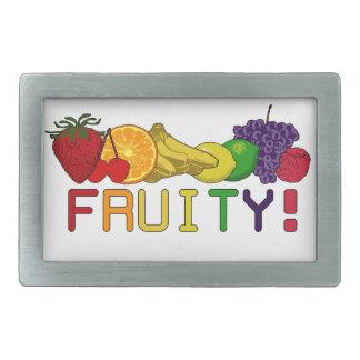 ¡Fruta con sabor a fruta! Hebilla De Cinturon Rectangular