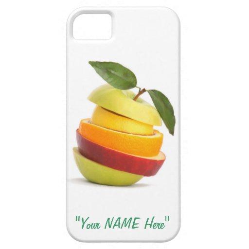 """Fruta cortada fresca """"EDIT YO"""" caso del iPhone 5/5 iPhone 5 Protectores"""