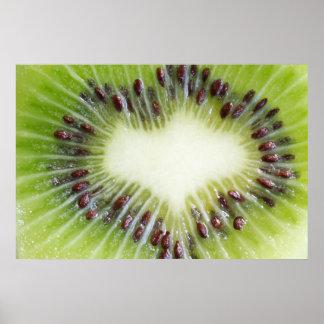 Fruta de kiwi dentro del poster