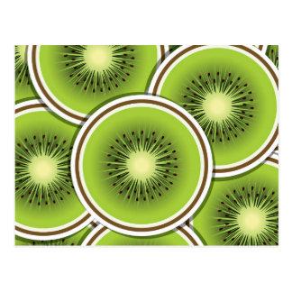 Fruta de kiwi enrrollada postales