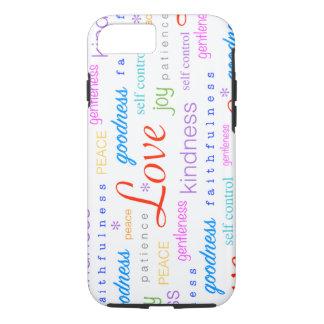 Fruta de la alegría de la PAZ del amor del alcohol Funda iPhone 7