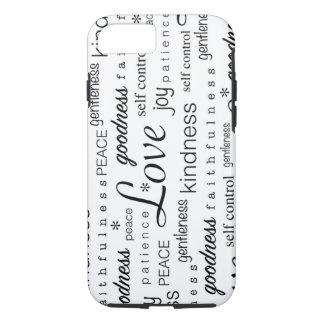 Fruta de la alegría de la PAZ del amor del blanco Funda iPhone 7