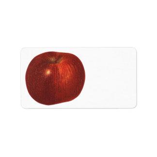 Fruta de la comida del vintage, Apple red