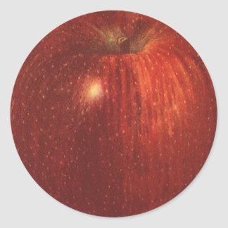 Fruta de la comida del vintage, Apple red Pegatina Redonda