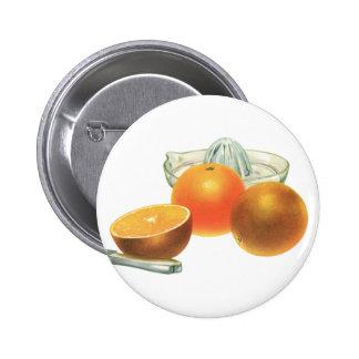 Fruta de la comida del vintage, desayuno maduro chapa redonda 5 cm