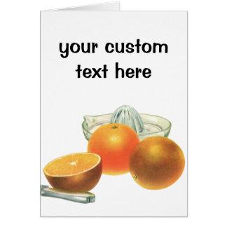 Fruta de la comida del vintage, desayuno maduro tarjeta de felicitación