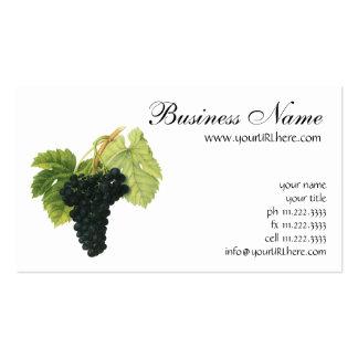 Fruta de la comida del vintage, racimo orgánico de plantilla de tarjeta de negocio