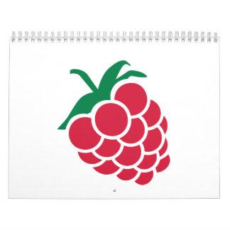 Fruta de la frambuesa calendario