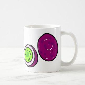 fruta de la pasión taza de café