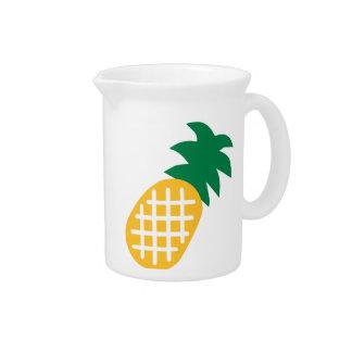 Fruta de la piña jarra de beber
