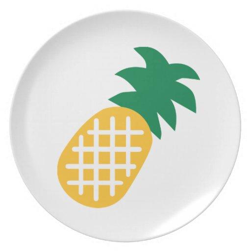 Fruta de la piña platos