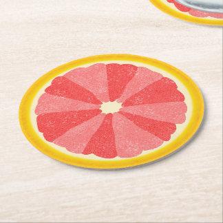 Fruta de la rebanada del pomelo del fiesta del posavasos desechable redondo