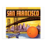 fruta de San Francisco Tarjeta Postal