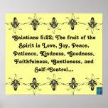 Fruta del 5:22 de Galatians del poster del alcohol
