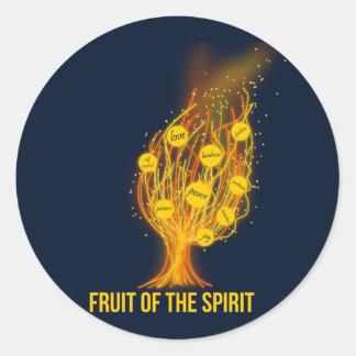 Fruta del alcohol - 5:22 de Galatians - 23 Pegatina Redonda