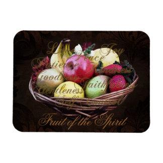Fruta del alcohol, cesta pintada de Brown Imanes Flexibles