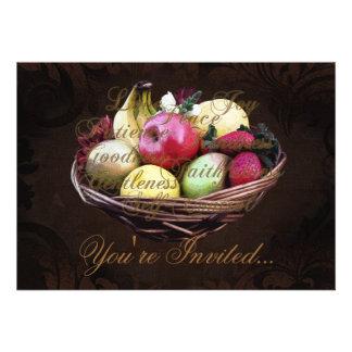Fruta del alcohol, cesta pintada de Brown Anuncios Personalizados