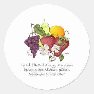 Fruta del alcohol pegatina redonda