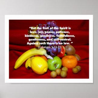 Fruta del alcohol póster