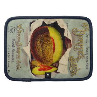 Fruta del cantalupo del Victorian de la publicidad Organizadores