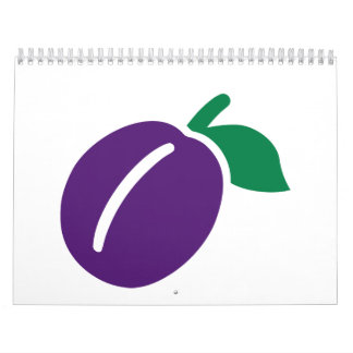 Fruta del ciruelo calendarios de pared