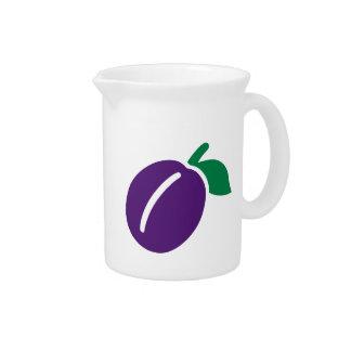 Fruta del ciruelo jarras de beber