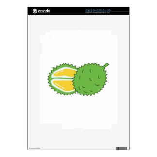 Fruta del Durian Calcomanías Para El iPad 2