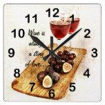 fruta del glassesand de dos vinos reloj