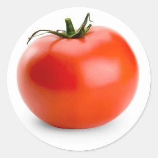 fruta del jardín del tomate pegatina redonda