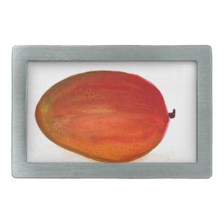 Fruta del mango hebilla de cinturón rectangular