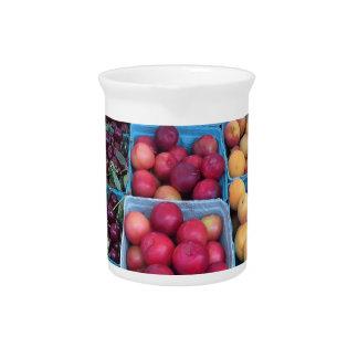 Fruta del mercado de los granjeros jarrones