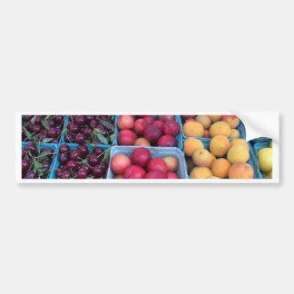 Fruta del mercado de los granjeros pegatina para auto