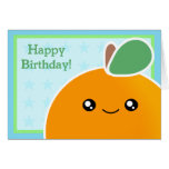 Fruta del naranja de la tarjeta de cumpleaños de K